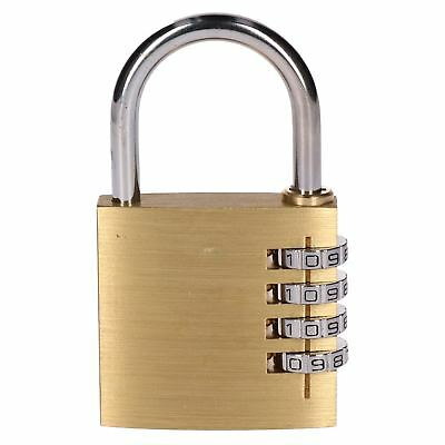 50mm Brass Combination Padlock / Lock / Security Shed Garage Door TE563