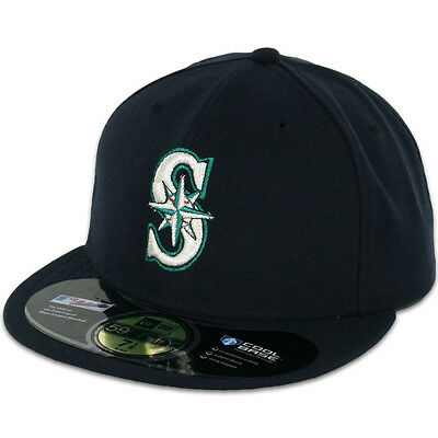 Seattle MARINERS GAME Home Navy New Era 59FIFTY Fitted Caps MLB AC On Field Hats