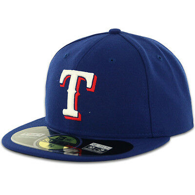 Texas RANGERS GAME DarkRoyal New Era 59FIFTY Fitted Caps MLB On Field Hats