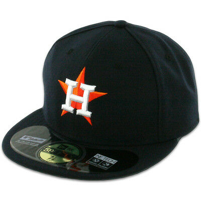 Houston ASTROS HOME Game Dark Navy New Era 59FIFTY Fitted Caps MLB On Field Hats