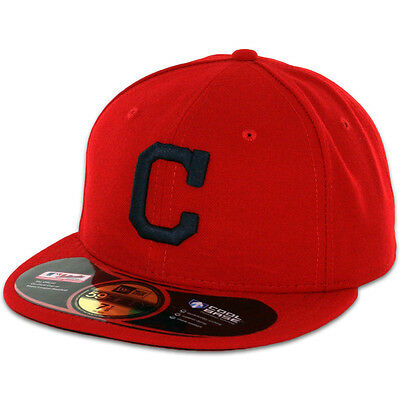 Cleveland INDIANS ALTERNATE 1 Red New Era 59FIFTY Fitted Caps MLB On Field Hats