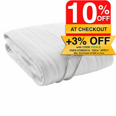 Washable Electric Blanket fitted Queen or Double Size/3 Heat/Heater for mattress