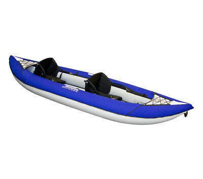 """Aquaglide 58-5215032 Chinook XP Two 10'6"""" 2 Person Inflatable Kayak w/Rod Holder"""