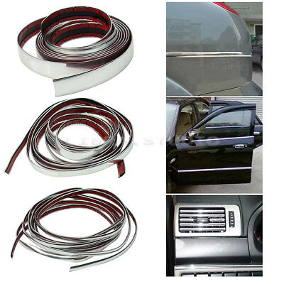 Popular Hotsell 3m Silver Car Chrome Styling Decoration Moulding Trim Strip 12mm