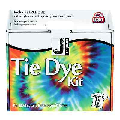 Tie Dye Kit Jacquard Dyes up to 15 t-shirts-FREE POST-and free DVD, Bright Dyes
