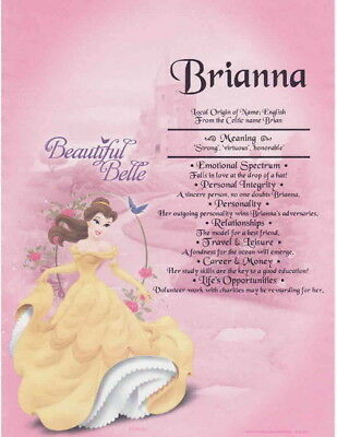 Disney Princess Belle First Name Meaning Gift For Daughter Niece Birthday Gift