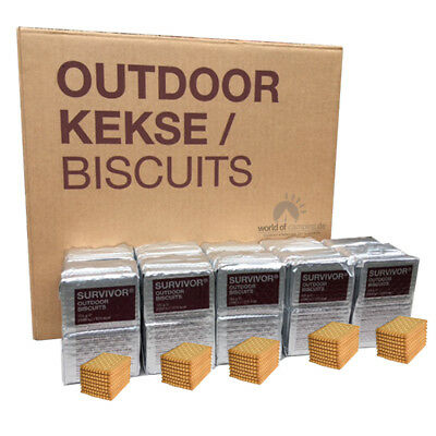 Outdoor Kekse / Biscuits 10 Pak. à 125g Survivor-Outdoor-Biscuits Hartkekse MSI