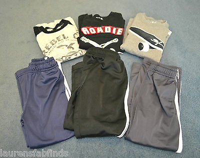 LOT OF 6! Wes and Willy Long Sleeve T-Shirts & Athletic Pants - Boy's Size 4T