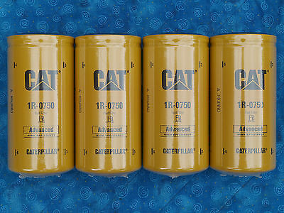 4 New Cat 1R-0750 Fuel Filters Sealed Made In Usa Caterpillar 1R0750 Oem