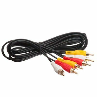 6 FT Premium 3 RCA Gold Plated Composite Male to Male Audio Video AV Cable