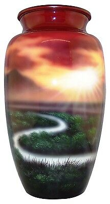 Winding River Adult Funeral Cremation Urn, 210 Cubic Inches