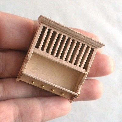 1:24 HALF Scale Unfinished Wood Plate Rack Dollhouse Miniature Furniture Kitchen