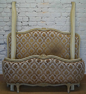 A Vintage French Double Demi Corbeille Bed inc. Reupholstery (exc. Fabric)