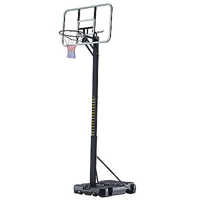 Portable Adjustable Height Full Size Basketball Stand Backboard Hoop and Net