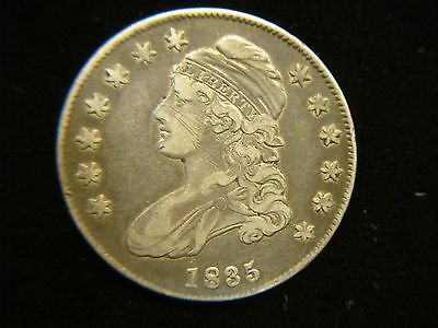 1835 Bust Half Dollar - Loads Of Detail - Nice Natural Coin