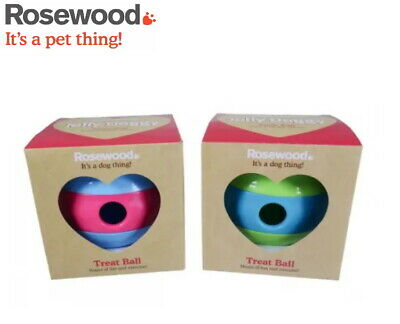 Rosewood Jolly Doggy Dog Puppy Exercise Treat Ball Interactive Toy Holder 20775