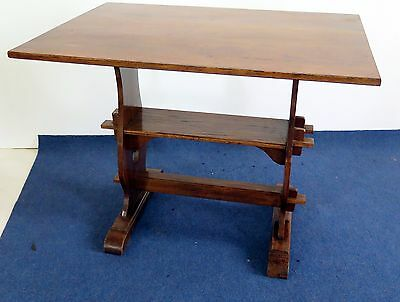 A Good C20th jointed oak fold-over table bench seat