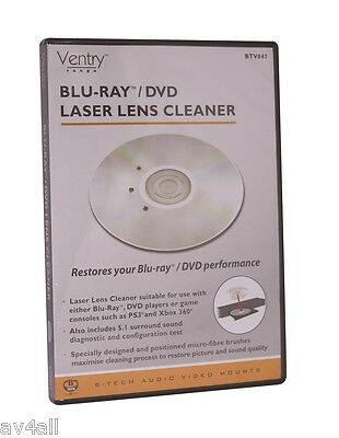 B-Tech High Quality DVD Blu- Ray Laser lens Cleaner 5.1 Surround Test Feature