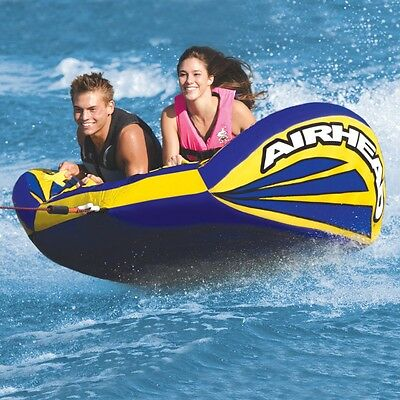 Airhead Matrix V-2 Flat Inflatable Water Tube 2 Rider Boat Tow Towable AHMX-V2
