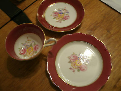 ROYAL ALBERT  - TRIO SET - TEA CUP & SAUCER & SIDE PLATE - RARE 1940/50s