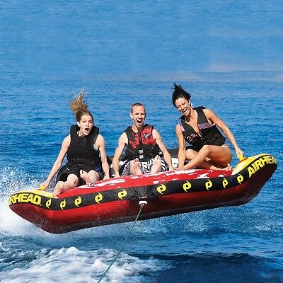 Airhead Storm III 3 Inflatable Water Tube Triple Rider Boat Tow Towable AHST-3