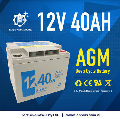 NEW 12V 40AH AGM Deep Cycle Rechargeable Battery Buggy Go Kart eBike Scooter
