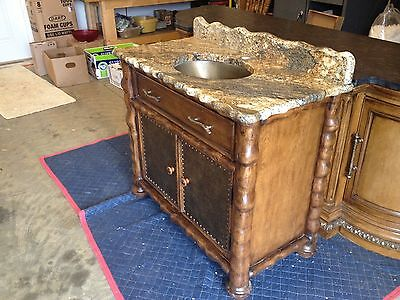 furniture / vanity with sink and faucet
