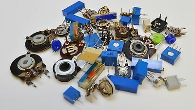 Electronic Components Assortment -  Trim Pots, Potentiometers - Pack Of 50