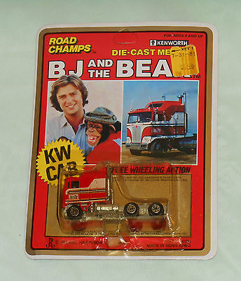 vintage BJ AND THE BEAR ROAD CHAMPS KW CAB Kenworth diecast car MOC