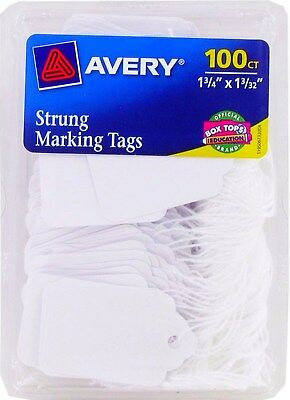 White string Strung HANG TAGS Price Marking jewelry estate yard sale AVERY 6732