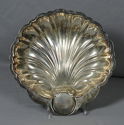 English Silver Mfg Corp Silverplated Scallop Shell Bowl or Platter