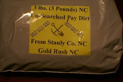 GOLD RUSH NC, CAROLINA GOLD NUGGETS,PICKERS, FLAKES, FINES, 3 +LBS RICH PAYDIRT