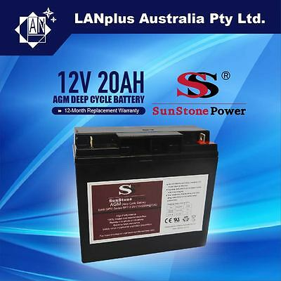 Brand NEW 12V 20AH AGM Deep Cycle Rechargeable Battery the same size as 18AH