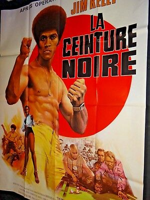 LA CEINTURE NOIRE ! blaxploitation jim kelly robert clouse  affiche cinema 1973
