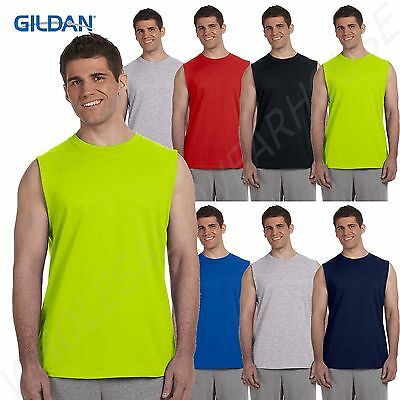 Gildan Mens 6 oz 100 % Heavy Cotton Tank Top Sleeveless Sports T-Shirt M-G270