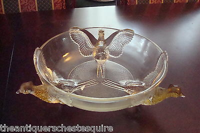 Depression Glass from Jeannette Glass 3-Footed Pheasant Bowl - Crystal Clear[10]