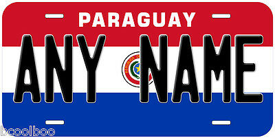Paraguay Flag Novelty Car License Plate