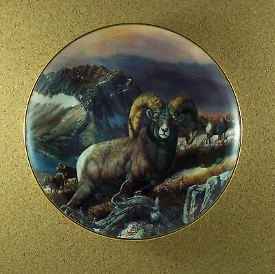 The Grand Slam ROCKY MOUNTAIN BIGHORN Plate Trevor Swanson Ram Sheep Danbury HTF