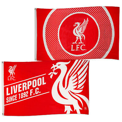 Liverpool Football Club Official Soccer Gift 5x3ft Body Flag Red White