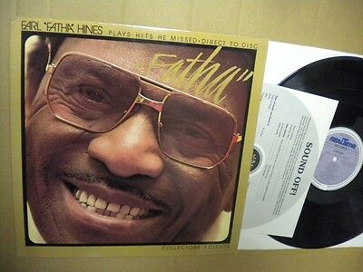 "Earl ""fatha"" Hines Plays Hits He Missed Direct To Disc Collectors Edition Lp"