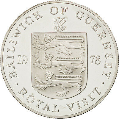 [#88680] GUERNSEY, 25 Pence, 1978, KM #32a, MS(63), Silver, 38.5, 28.30