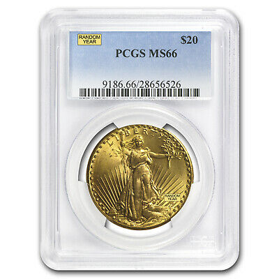 $20 Saint-Gaudens Gold Double Eagle MS-66 PCGS (Random) - SKU #21692