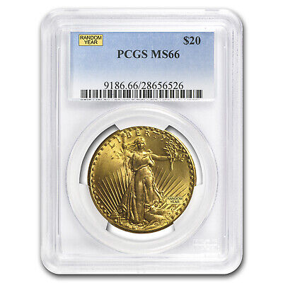 $20 Saint-Gaudens Gold Double Eagle - Random Year - MS-66 PCGS - SKU #21692