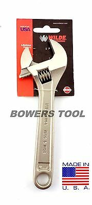 Wilde Tool 6 in. Adjustable Wrench MADE IN USA Heat Treated Alloy Steel AWC6