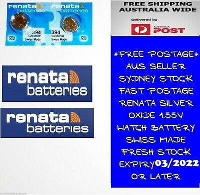 2 PCS Renata SR936SW 394 1.55V Silver Oxide Battery for Watch Swiss Made