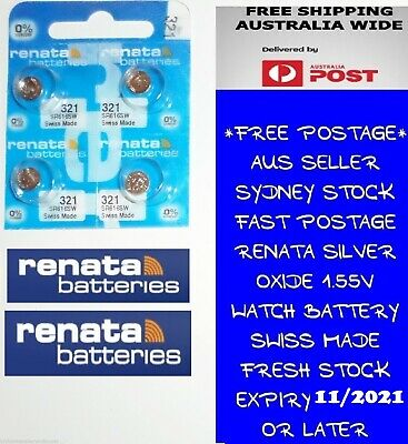 4 PCS Renata SR616SW 321 1.55V Silver Oxide Battery for Watch Swiss Made