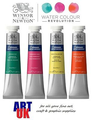 Winsor & Newton COTMAN Watercolour 21ml Tube of Artists Paint - BUY 5 GET 1 FREE