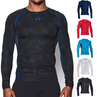 Under Armour 2016 Mens UA HG Armour Printed Compression Long Sleeve T Shirt Tee