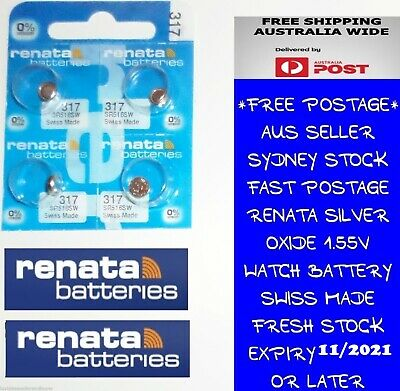 4 PCS Renata SR516SW 317 1.55V Silver Oxide Battery for Watch Swiss Made