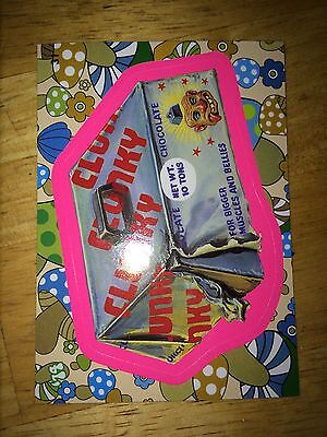 2008 WACKY PACK FLASHBACK 2 PACKAGES PINK PARALLEL STICKER CHUNKY CLUNKY 31 EATS